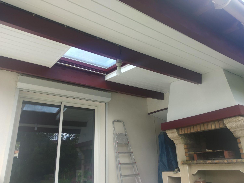 Rénovation porche en bois sur terrasse