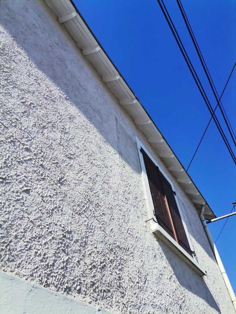 Rénovation débord de toit en peinture